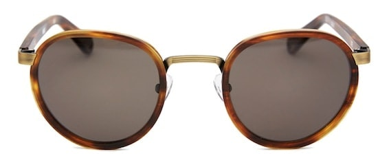 InStitchu Accessories sunglasses Pacifico Optical Carter Matte Burnt Oak with Polarised Grey Lens
