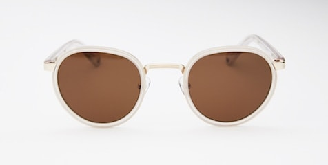 InStitchu Accessories sunglasses Pacifico Optical Carter Matte Crystal with Polarised Brown Lens