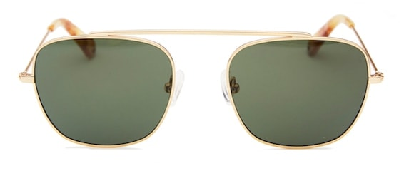 e8d684b159 InStitchu Accessories sunglasses Pacifico Optical South Vintage Gold with  Green Lens