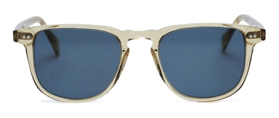 InStitchu Accessories sunglasses Pacifico Optical Blair Champagne with Blue Lens