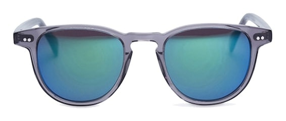 InStitchu Accessories sunglasses Pacifico Optical Campbell Slate with Grey Emerald Mirror Lens