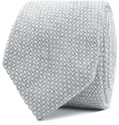 InStitchu Essentials Accessories Tie Balmoral Pale Grey and White Cotton Tie