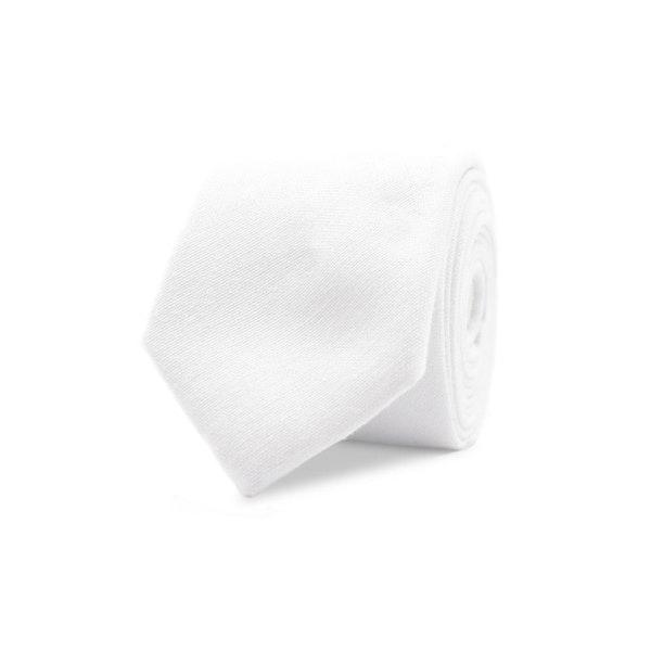 InStitchu Essentials Accessories Tie Culburra Pure White Cotton Tie