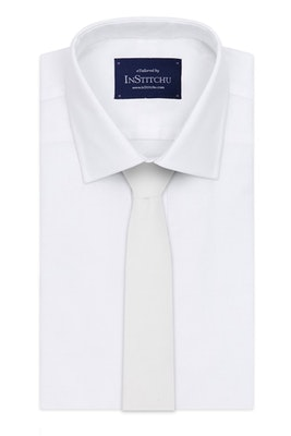 InStitchu Essentials Accessories Tie Culburra Pure White Cotton Tie