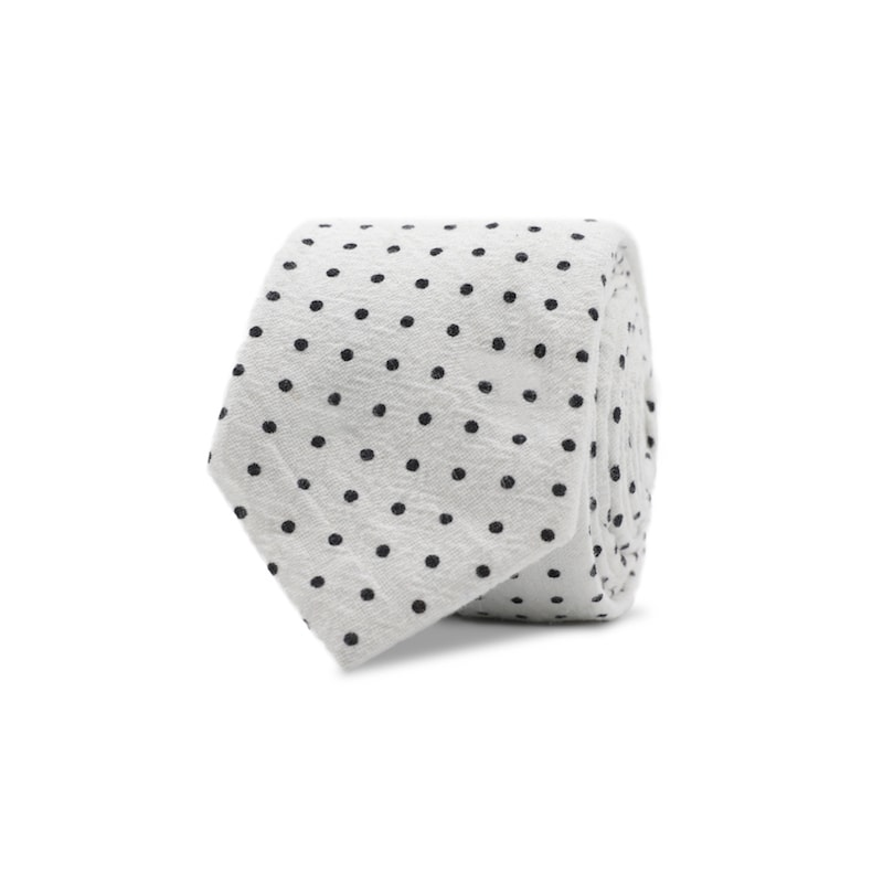 InStitchu Essentials Accessories Tie Wineglass White Spotted Cotton Tie