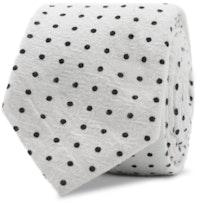 InStitchu Essentials Accessories Tie Wineglass White Spotted Cotton Tie