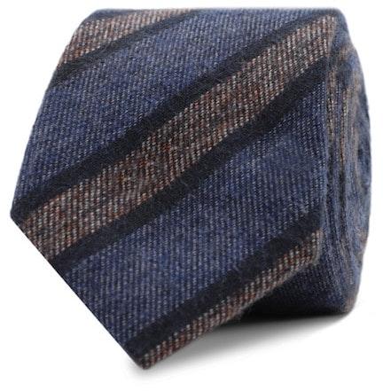 InStitchu Essentials Accessories Tie Collaroy Navy, Mid-Blue and Grey Striped Cotton Tie