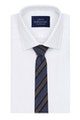 InStitchu Essentials Accessories Tie Collaroy Navy, Mid-Blue and Grey Striped Cotton Tie