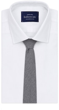 InStitchu Essentials Accessories Tie Bronte Navy Blue and White Cotton Tie