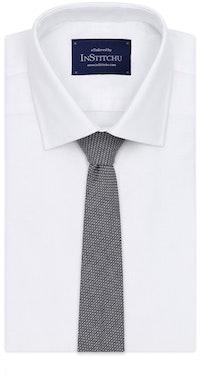 InStitchu Essentials Accessories Tie Bronte Navy Blue and White Cotton Tie