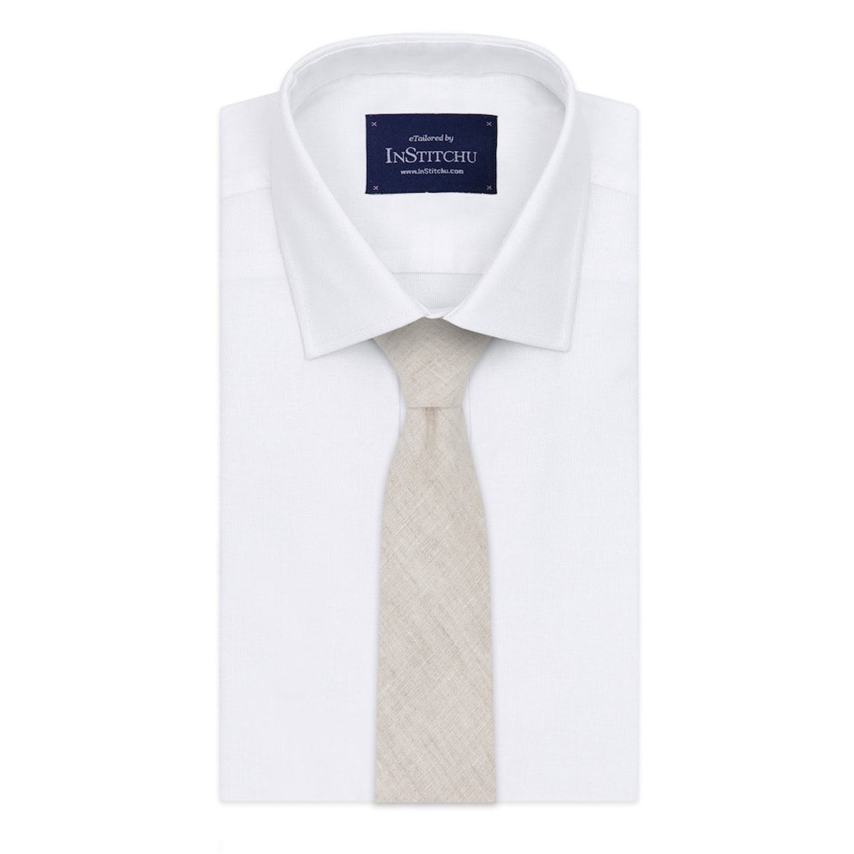 InStitchu Essentials Accessories Tie Harbord Light Beige Cotton and Linen Tie