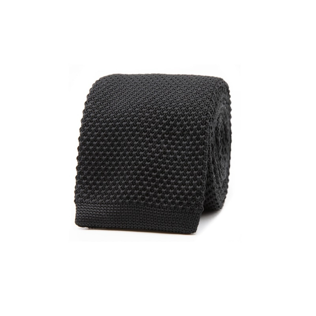 InStitchu Essentials Accessories Tie Kutti Black Knitted Square-End Tie