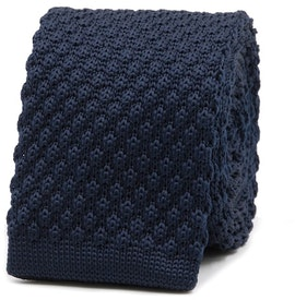 InStitchu Essentials Accessories Tie Byron Bay Navy Knitted Square-End Tie