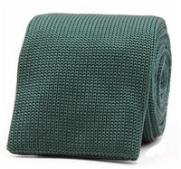 InStitchu Essentials Accessories Tie Palm Dark Green Knitted Square-End Tie
