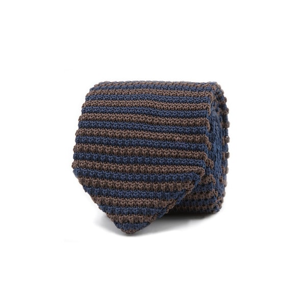 InStitchu Essentials Accessories Tie Wategos Brown and Navy Knitted Tie