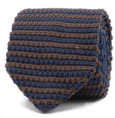 InStitchu Essentials Accessories Tie Wategos Brown and Navy Knitted Tie
