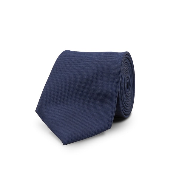 InStitchu Essentials Accessories Tie Jervis Navy Blue Silk Tie