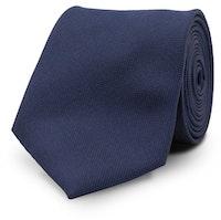 InStitchu Essentials Accessories Tie Jervis Navy Blue Silk Tie