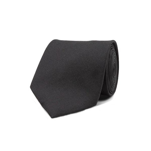 InStitchu Essentials Accessories Tie Freshwater Solid Black Silk Tie