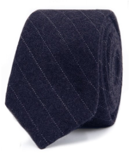 0e97c1008121 InStitchu Essentials Accessories Tie Whitehaven Deep Navy Blue and White  Pinstripe Wool Blend Tie ...