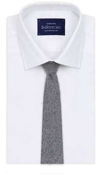 InStitchu Essentials Accessories Tie Clontarf Mid-Blue-Grey Arrowpoint Wool Blend Tie