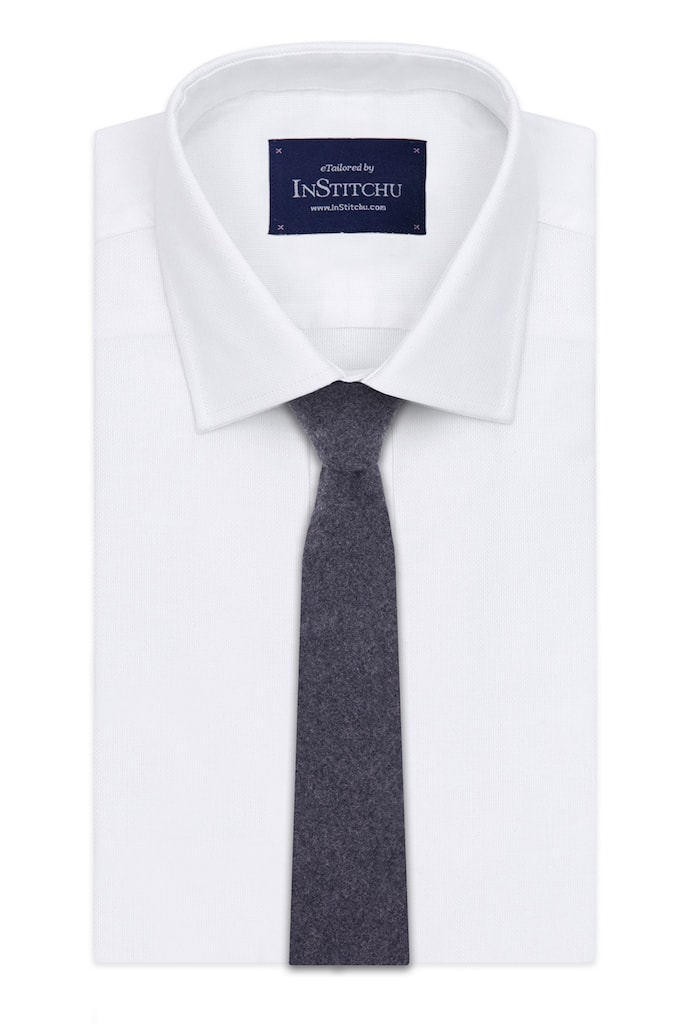 InStitchu Essentials Accessories Tie Broadbeach Grey Wool Blend Tie
