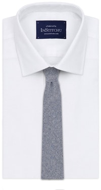 InStitchu Essentials Accessories Tie Bells Grey-Blue Wool Blend Tie