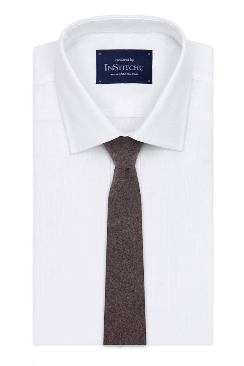 InStitchu Essentials Accessories Tie Gordons Earthy Brown Wool Blend Tie