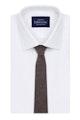 InStitchu Essentials Accessories Tie Gordons Earthy Brown Wool Blend Tie