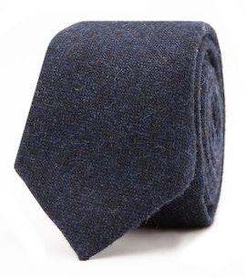 InStitchu Essentials Accessories Tie Hyams Deep Navy Wool Blend Tie