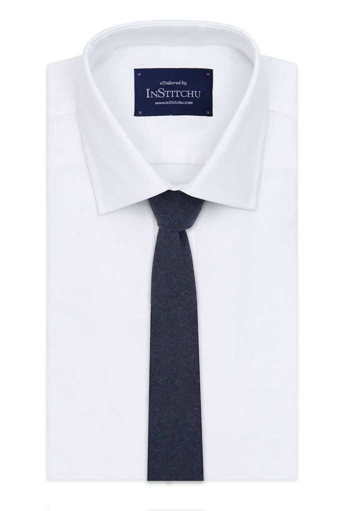 InStitchu Essentials Accessories Tie Hyams Deep Navy Wool Blend Tie