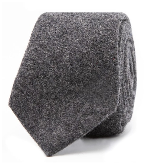 InStitchu Essentials Accessories Tie Shelly Deep Charcoal Wool Blend Tie