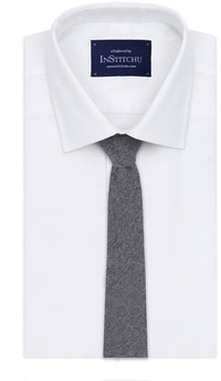 InStitchu Essentials Accessories Tie Whale Grey Arrowpoint Wool Blend Tie