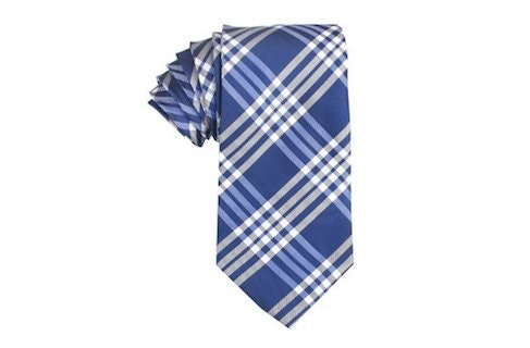 InStitchu Accessories tie OTAA Cobalt Blue Tie with White Stripes