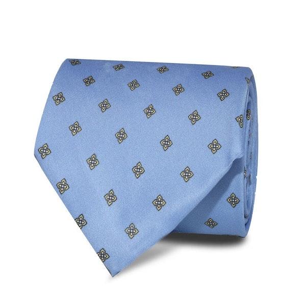 InStitchu Accessories Bream Emblem Light Blue Tie