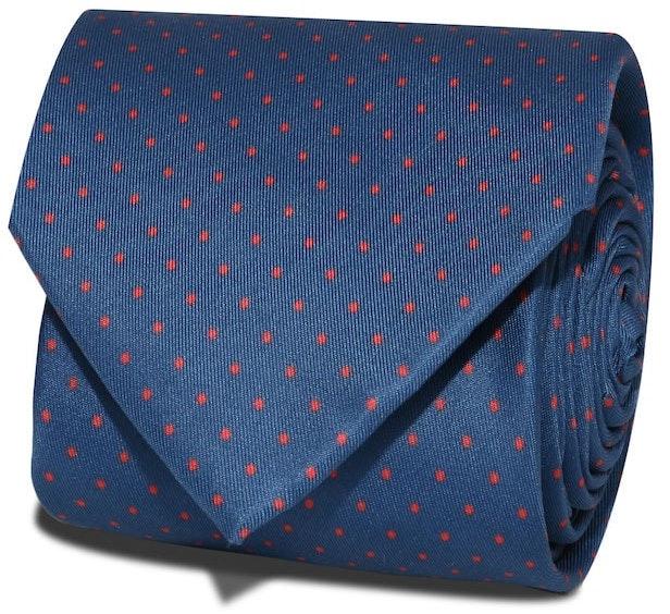 InStitchu Accessories Cape Spotted Dark Navy Silk Tie