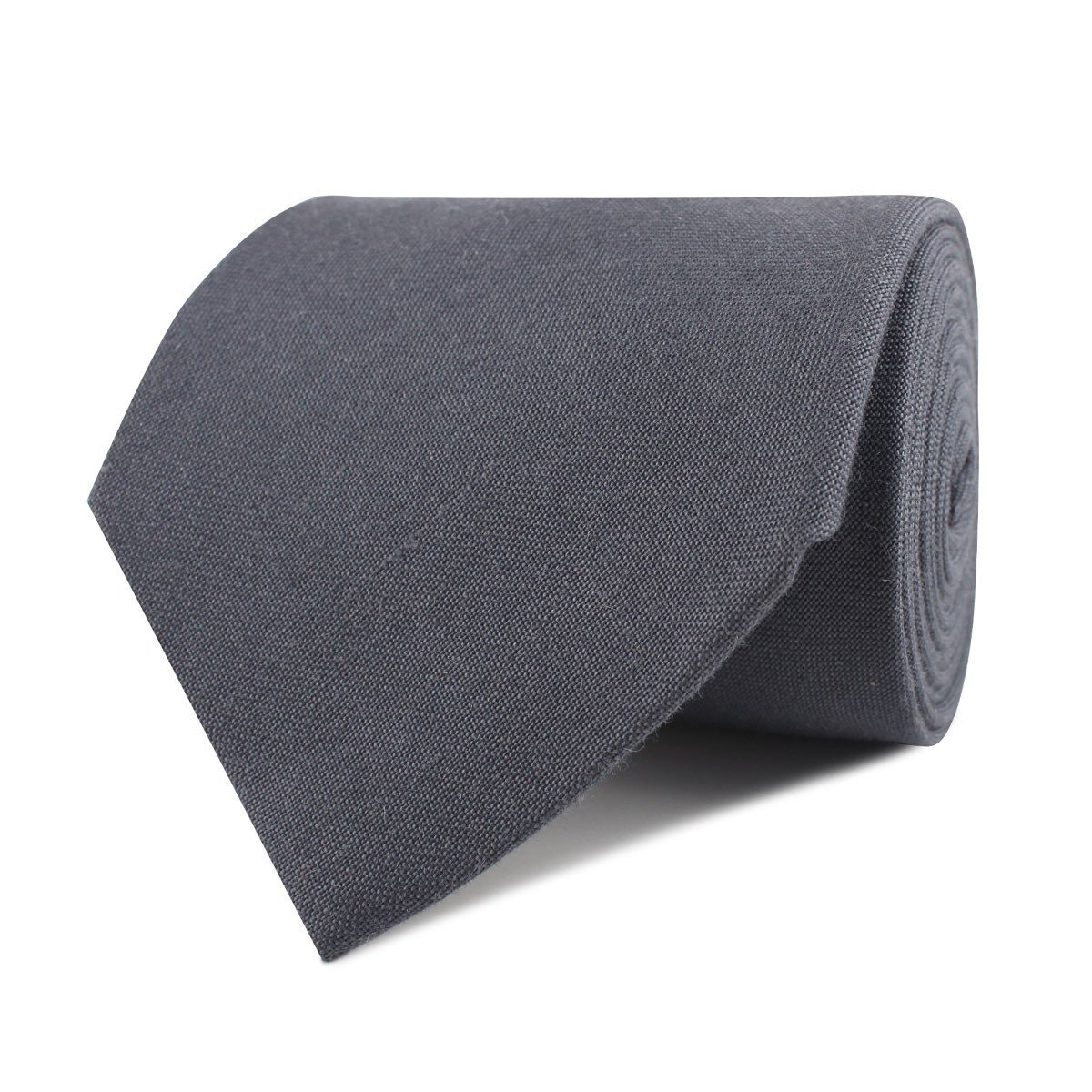 InStitchu Accessories tie  OTAA Charcoal Grey Slub Linen Necktie