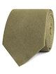 InStitchu Accessories tie  OTAA Dry Green Khaki Linen Tie