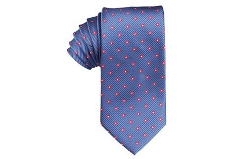 InStitchu Accessories tie OTAA Navy Blue Tie with Red Pattern