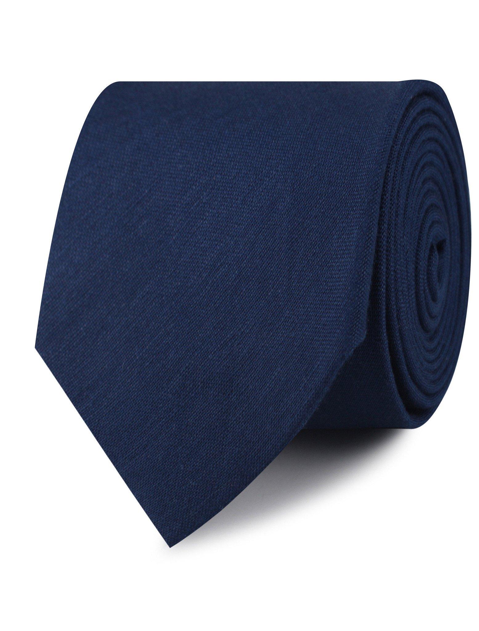 InStitchu Accessories tie  OTAA Jeune Fille Endormie Navy Linen Tie