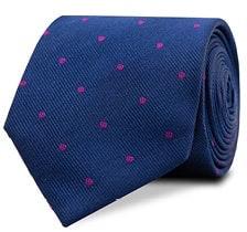 InStitchu Accessories tie InStitchu Navy Tie with Magenta Polka Dots