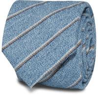InStitchu Accessories Marley Striped Light Blue Cotton Tie