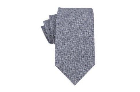 InStitchu Accessories tie OTAA Navy Blue Herringbone Linen Tie