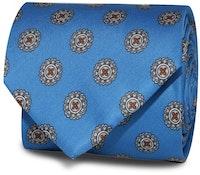 InStitchu Accessories Obelisk Emblem Mid Blue Tie
