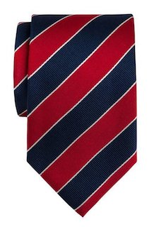 InStitchu Accessories tie InStitchu Navy, Red and White Diagonal Striped Tie