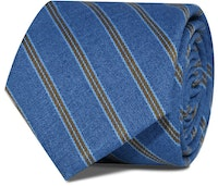 InStitchu Accessories Taylors Striped Mid Blue Cotton Tie