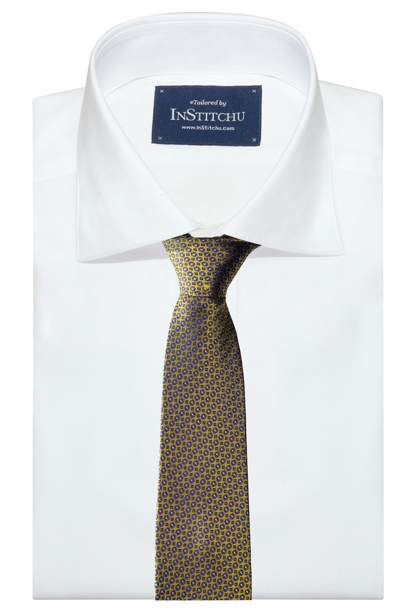 InStitchu Collection The Avetrana Gold Patterned Silk Tie