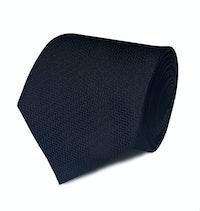 InStitchu Collection The Concio Black Zig Zag Silk Tie