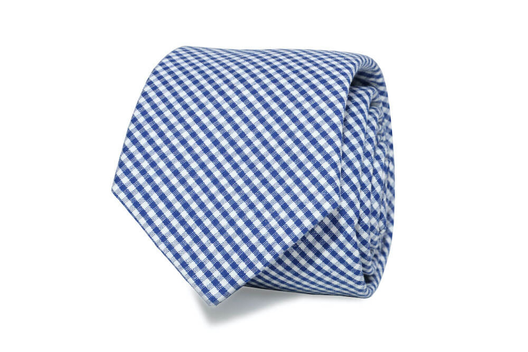 InStitchu Essentials Accessories The Dante Blue Gingham Cotton Tie