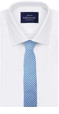 InStitchu Essentials Accessories The Dante Blue Gingham Cotton Tie